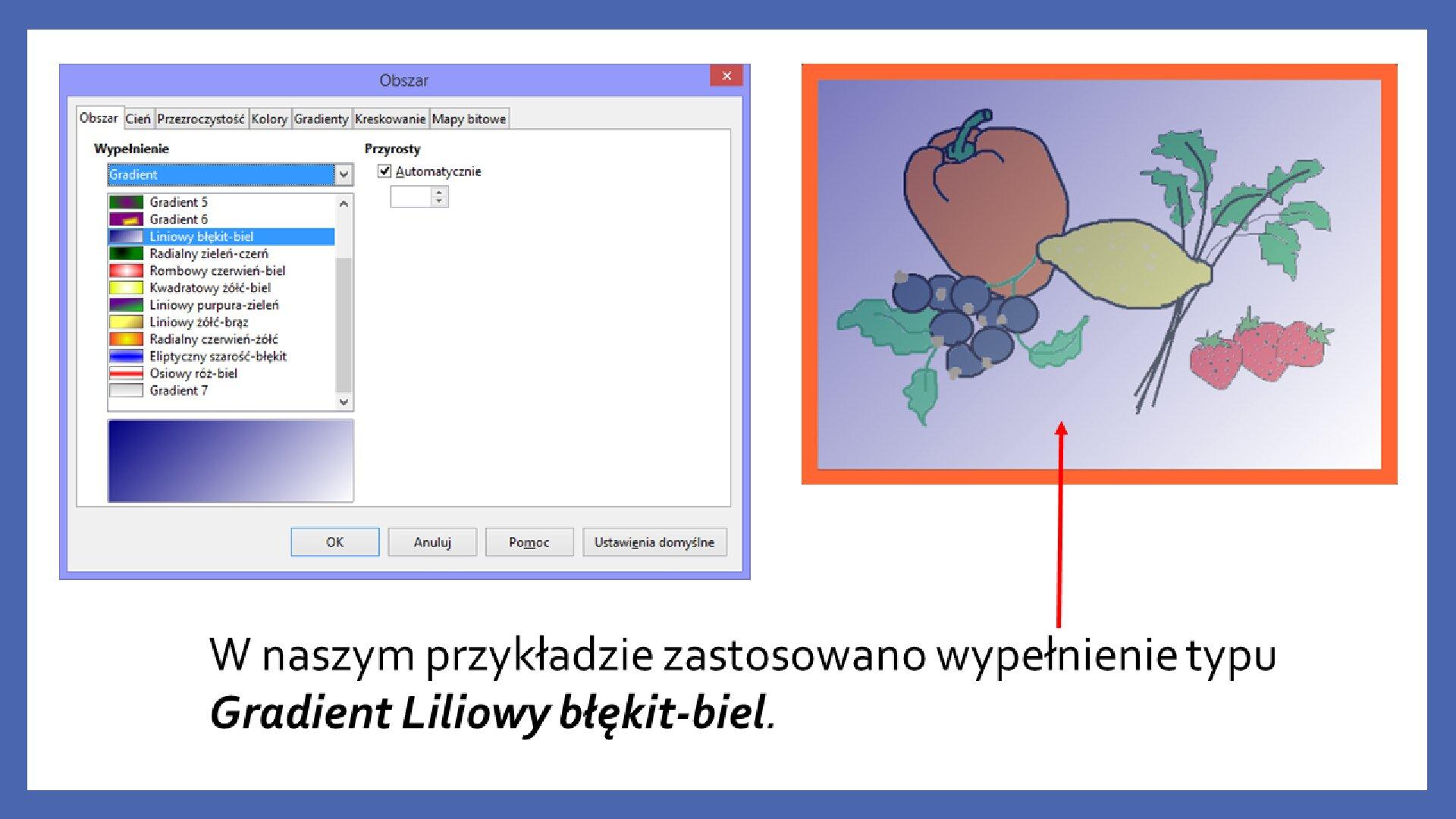Slajd 9 galerii zrzutów slajdów: Modyfikacja obiektów wprogramie LibreOffice Impress