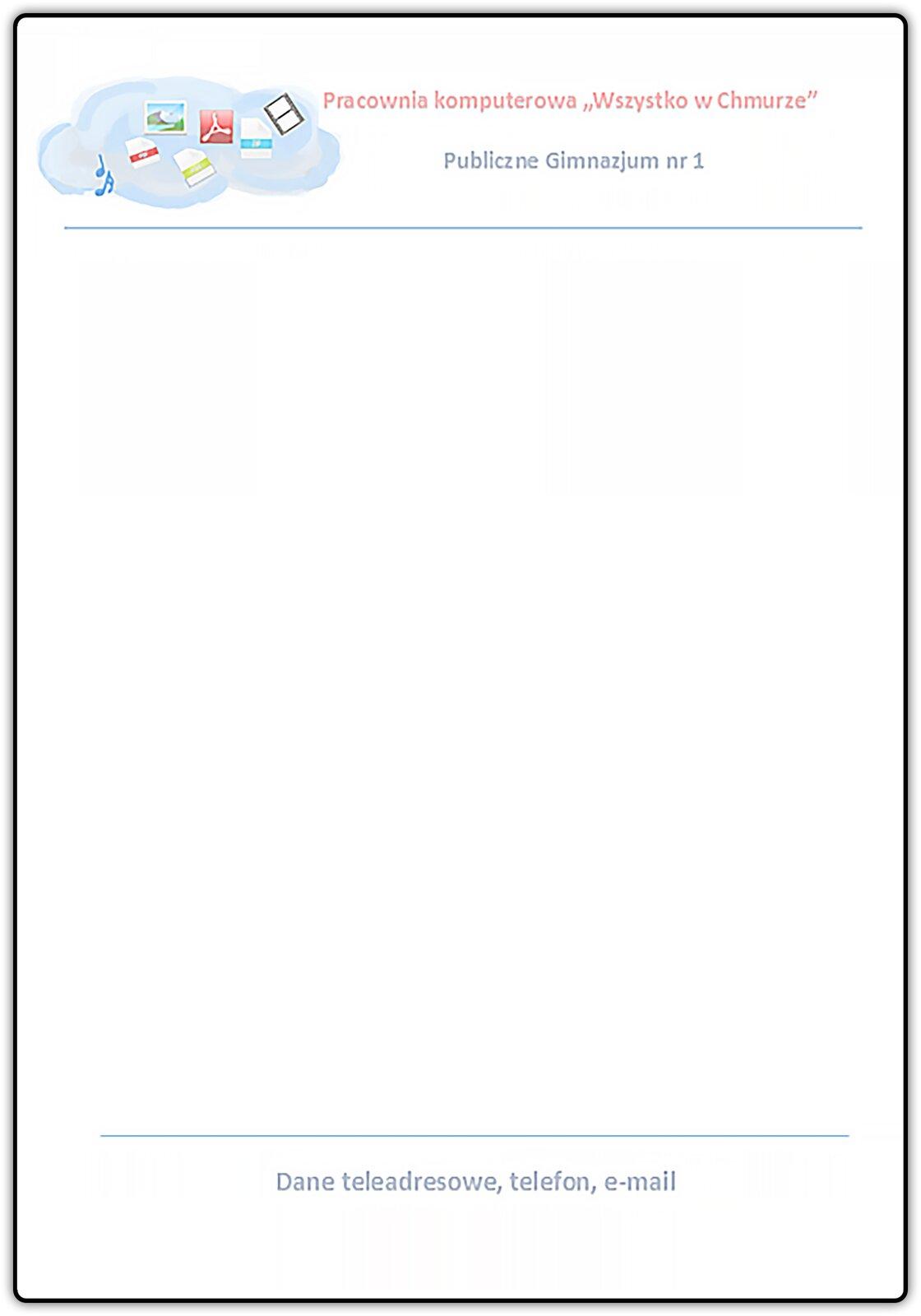 Slajd 2 galerii dokumentów prezentujących zastosowanie nagłówka istopki