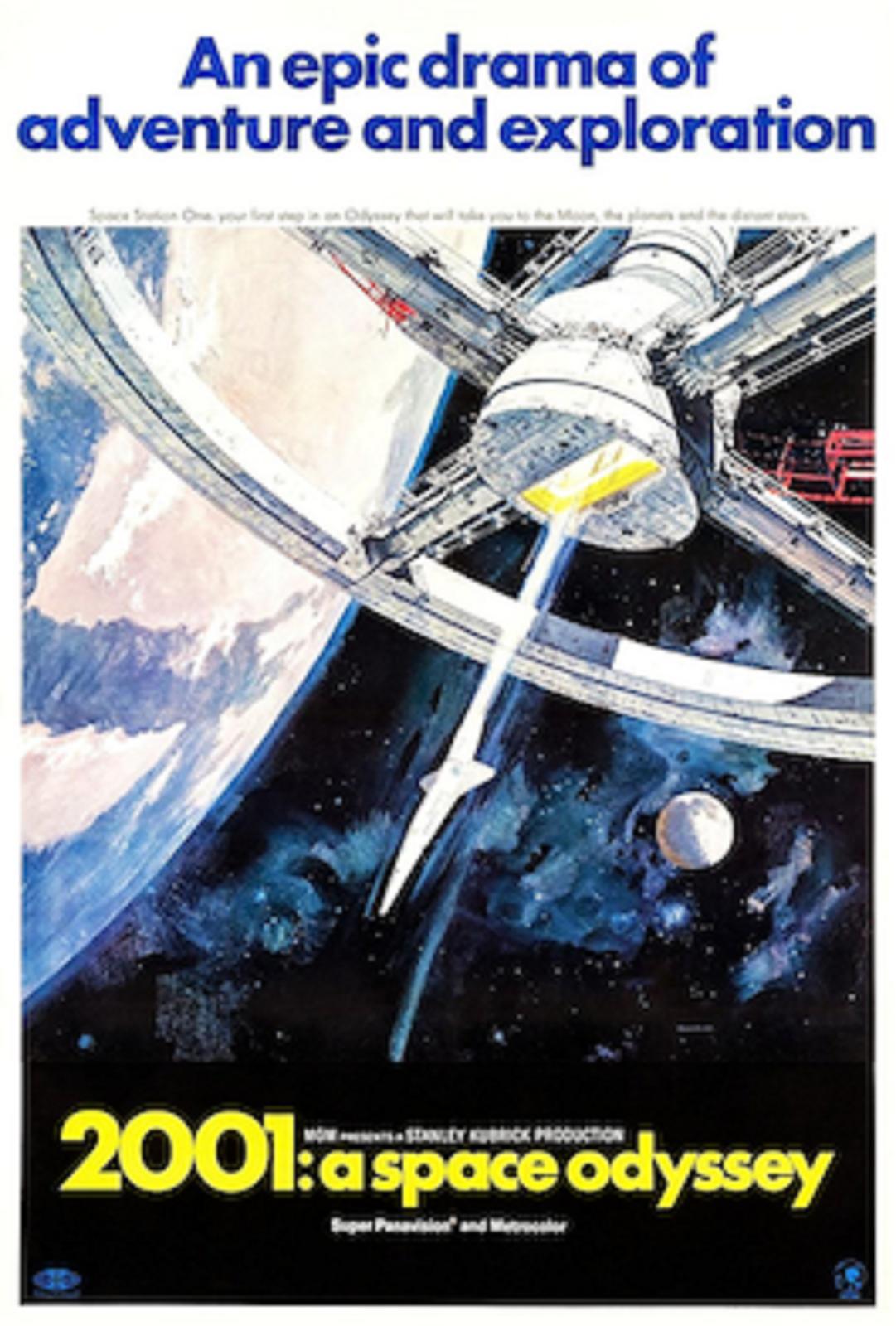 """Ilustracja przedstawia plakat """"Odyseja kosmiczna"""", która przedstawia fragment planety po lewej stronie ifragment windy kosmicznej jest to konstrukcja, służąca do wynoszenia obiektów zpowierzchni ciała niebieskiego wprzestrzeń kosmiczną."""