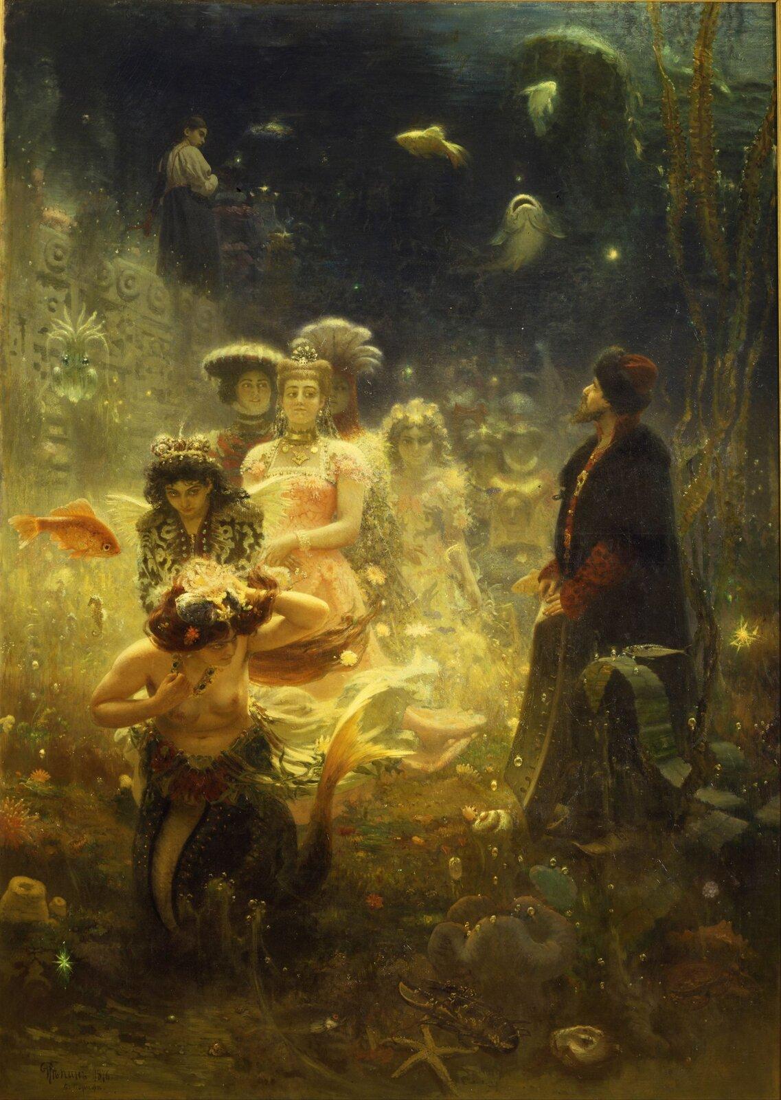 Sadko Źródło: Ilya Repin, Sadko, 1876, olej na płótnie, domena publiczna.