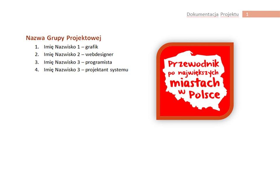 Ilustracja strony dokumentacji projektu zinformacjami na temat składu jak iról zespołu projektowego