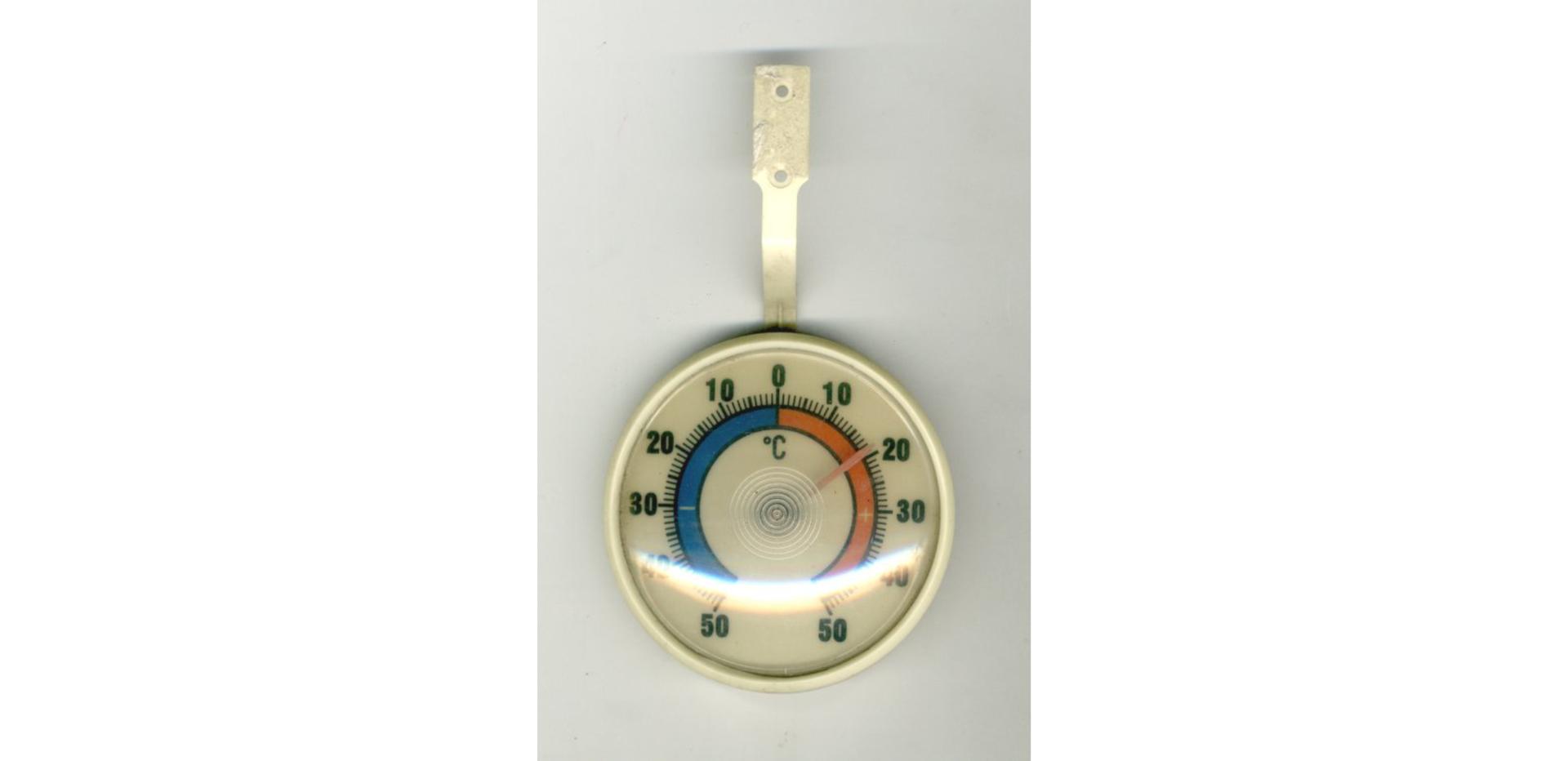 Ilustracja przedstawia termometr bimetalowy.