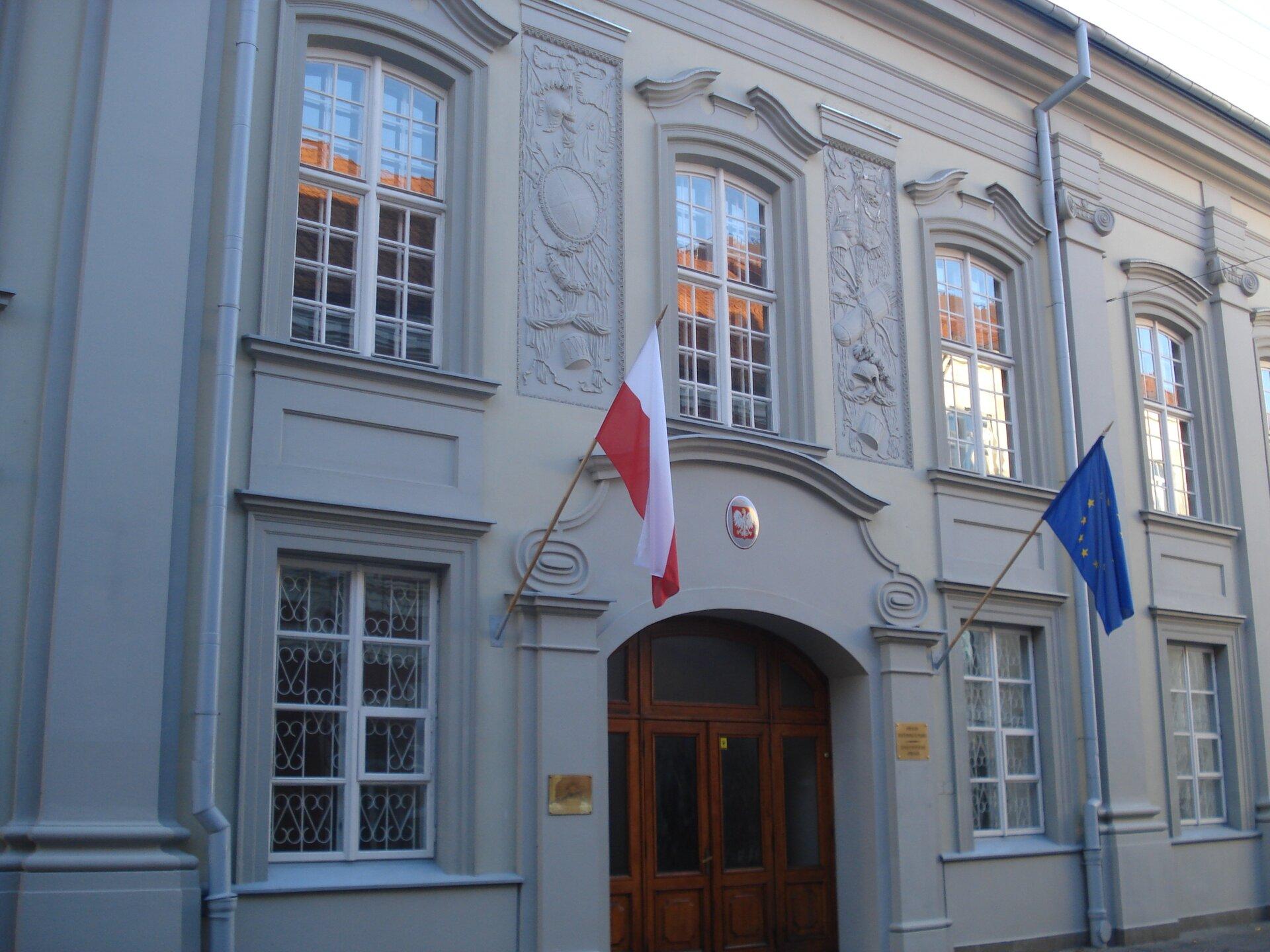 Polska ambasada wWilnie Źródło: Alma Pater, Polska ambasada wWilnie , 2007, fotografia, licencja: CC BY-SA 3.0.