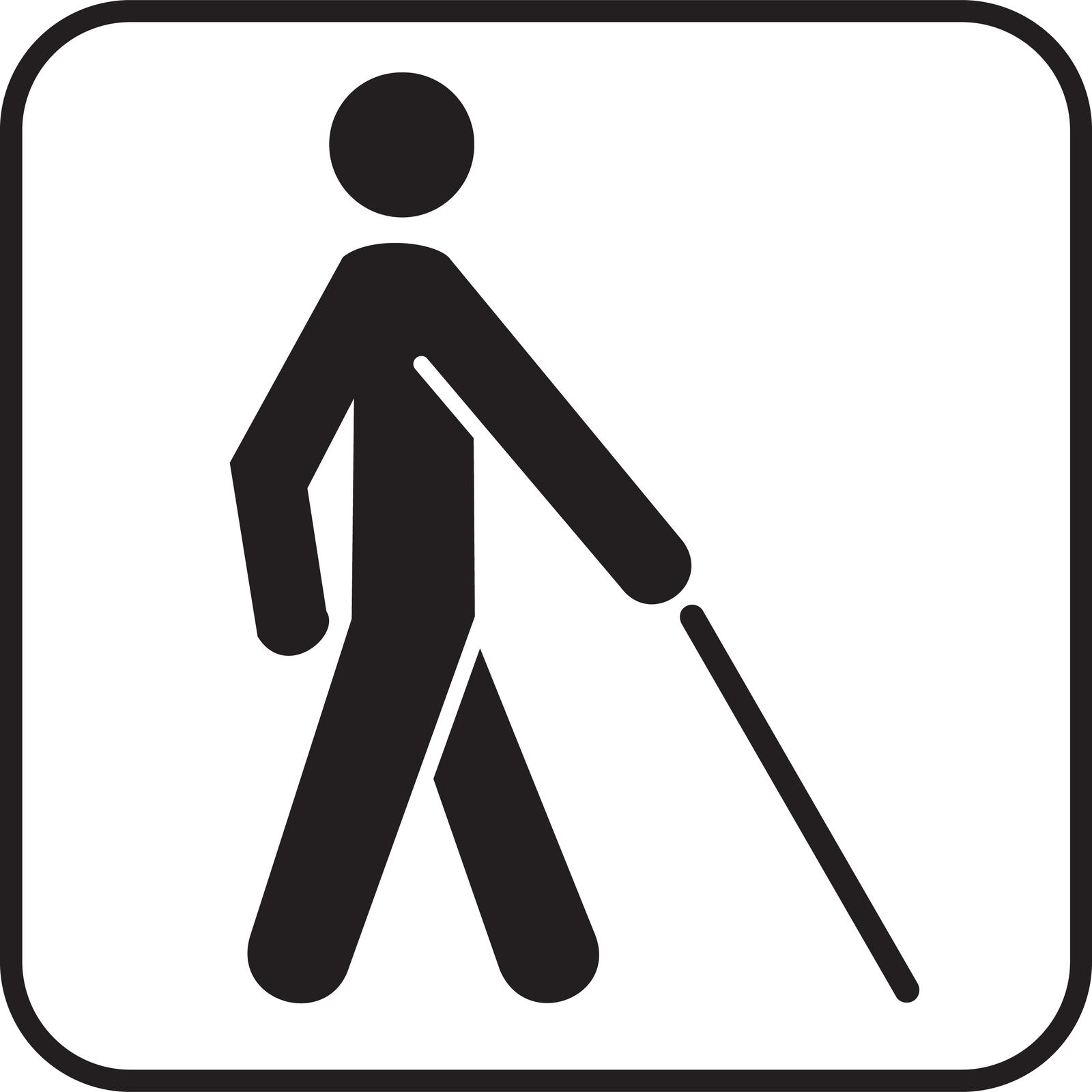 Piktogram - niewidomi
