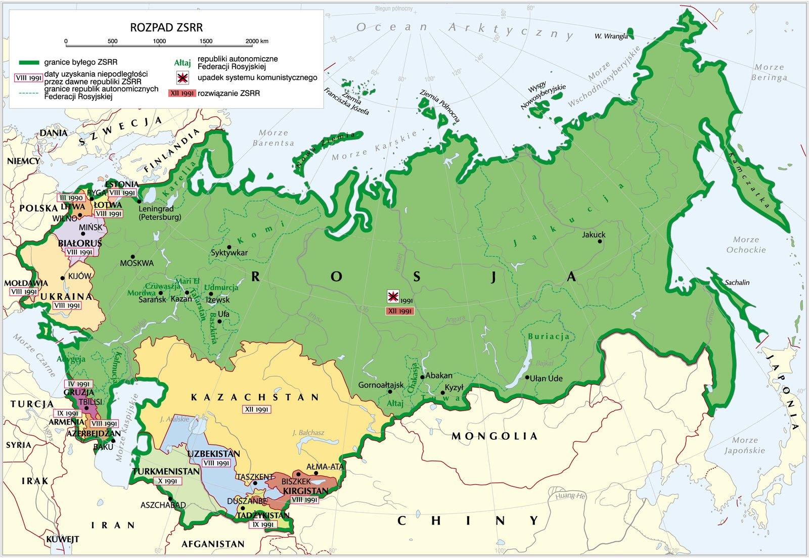 Rozpad Związku Radzieckiego Rozpad Związku Radzieckiego Źródło: Krystian Chariza izespół.