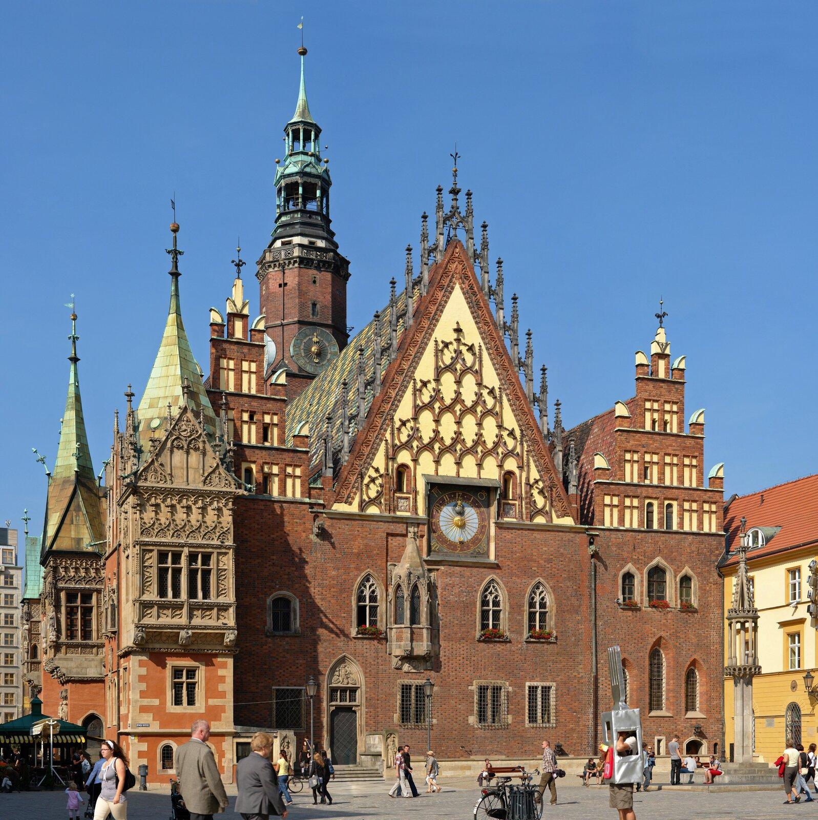 WrocławskiRatusz, elewacja wschodnia
