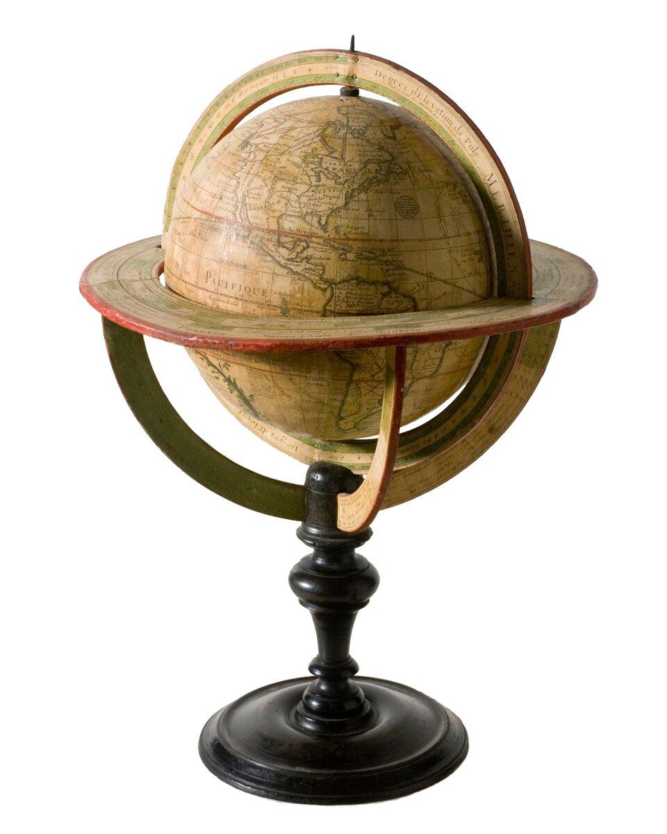 Globus z1765 roku Globus z1765 roku Źródło: Minnesota Historical Society, licencja: CC BY-SA 3.0.