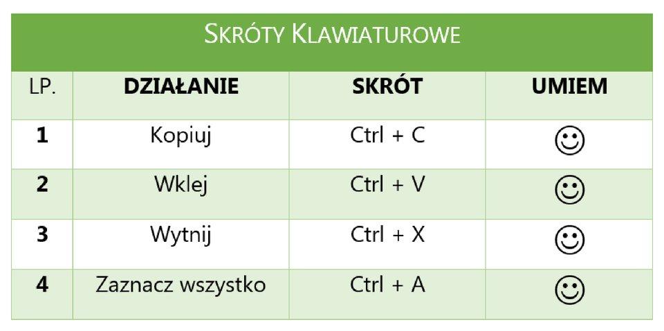Zrzut tabeli 1 zzastosowanym stylem
