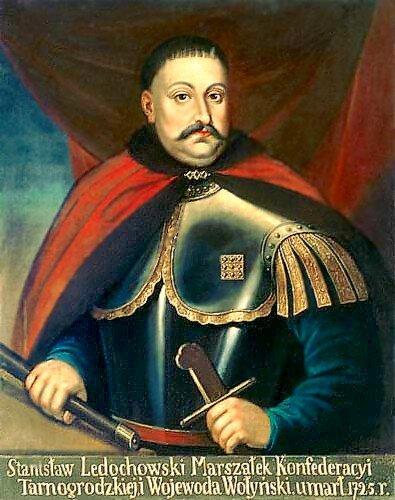 Stanisław Ledóchowski, marszałek konfederacji tarnogrodzkiej Stanisław Ledóchowski, marszałek konfederacji tarnogrodzkiej Źródło: 1725, domena publiczna.