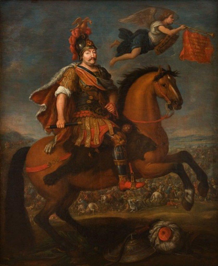 Portret Jana III pędzla nieznanego artysty. Obraz wzorowany na dzieleJerzego Siemiginowskiego-Eleutera