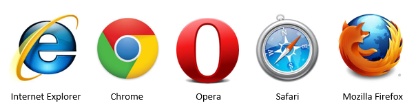 Zrzut ikon przeglądarek