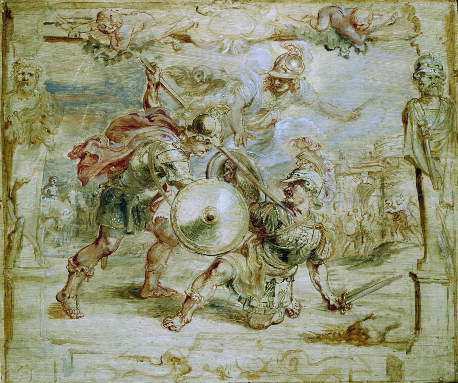 Śmierć Hektora Źródło: Peter Paul Rubens, Śmierć Hektora, 1630–1635, olej na desce, Museum Boijmans Van Beuningen, domena publiczna.