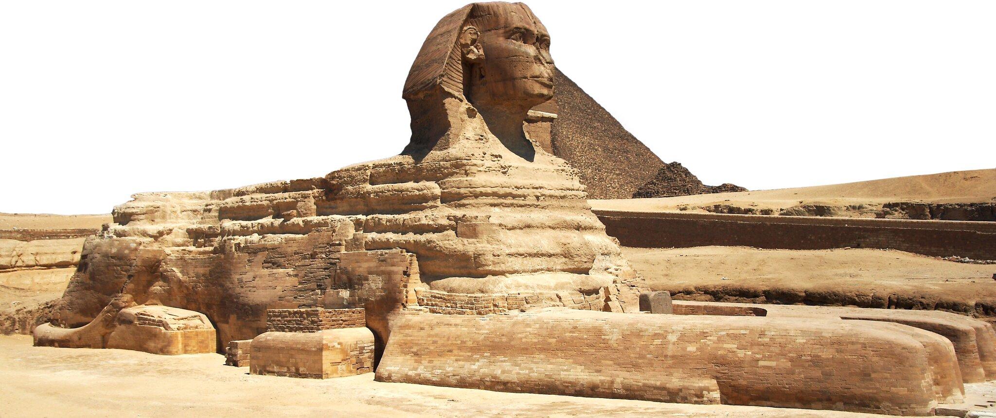 Piramida Cheopsa iWielki Sfinks wGizie Piramida Cheopsa iWielki Sfinks wGizie Źródło: Barcex, Wikimedia Commons, licencja: CC BY-SA 3.0.
