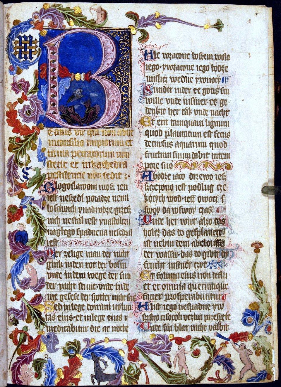 Na zdjęciu przedstawiona została strona Psałterza floriańskiego