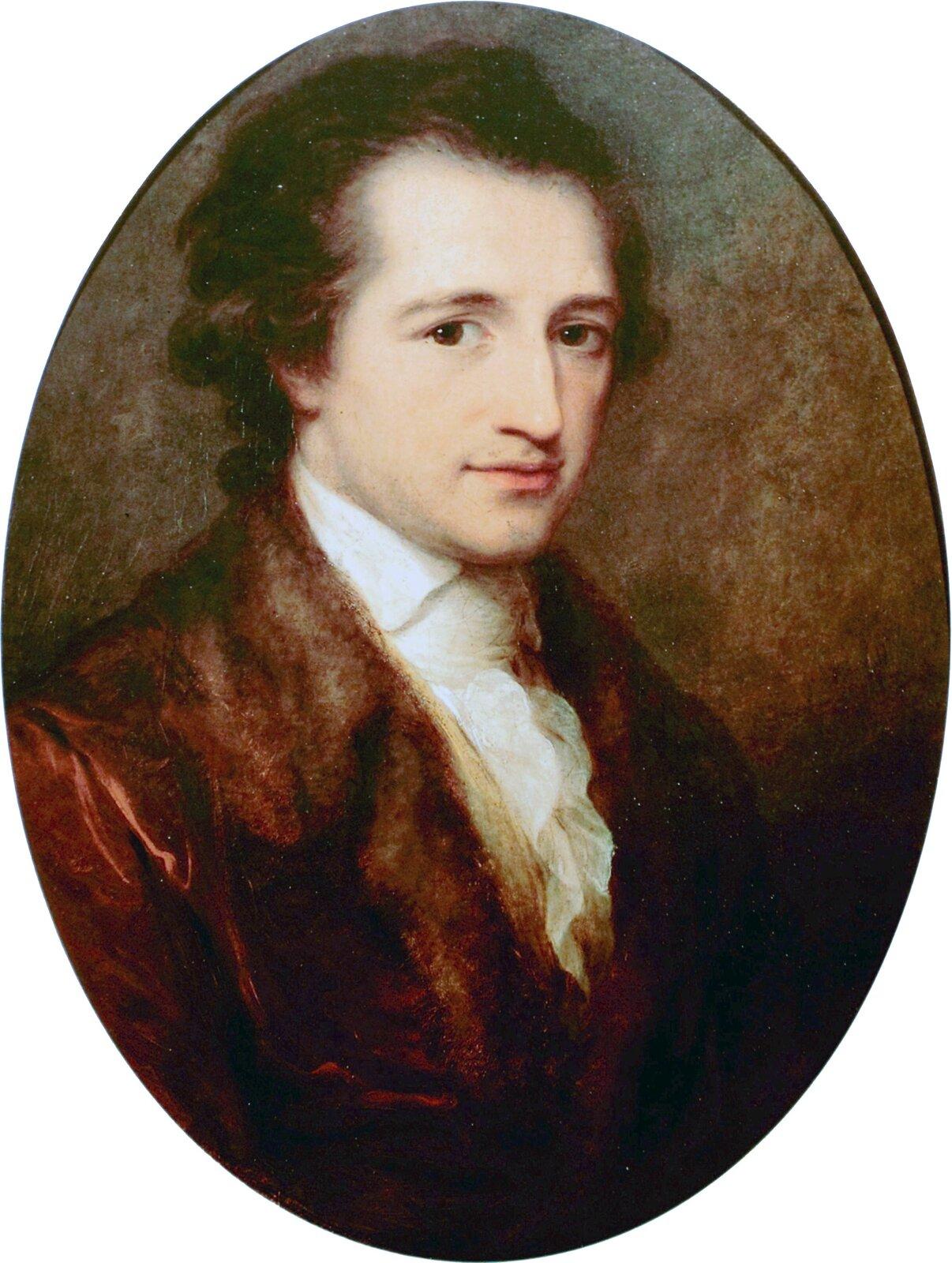 Młody Johann Wolfgang Goethe Źródło: Angelica Kauffman, Młody Johann Wolfgang Goethe, 1787, olej na płótnie, Goethe-Nationalmuseum (Weimar), domena publiczna.