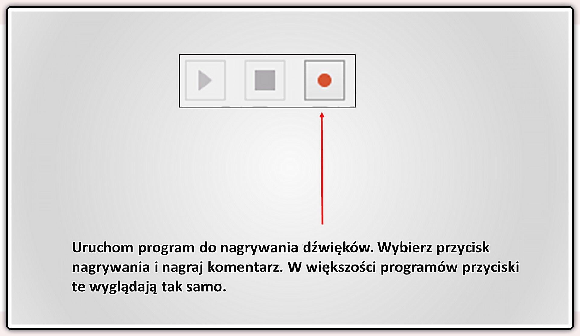 Slajd 1 galerii slajdów pokazu: Nagrywanie komentarza do prezentacji wprogramie LibreOffice Impress