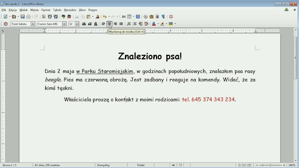 Formatowanie tekstu - Epodreczniki pl