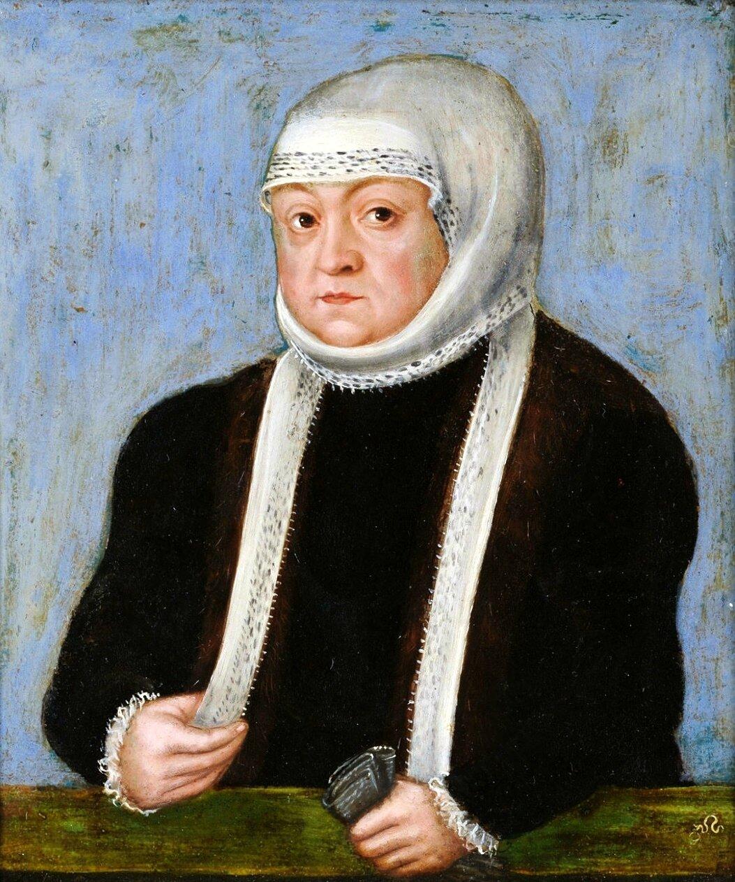 Bona Sforza – królowa iżona Zygmunta Starego Źródło: Lucas Cranach Młodszy, Bona Sforza – królowa iżona Zygmunta Starego, około 1553, olej na blasze, Muzeum Czartoryskich, domena publiczna.