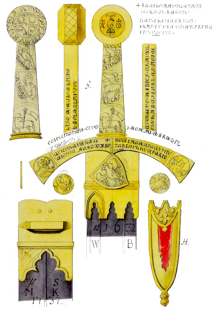 Dokumentacja graficzna polskiego miecza koronacyjnego (Szczerbca) Dokumentacja graficzna polskiego miecza koronacyjnego (Szczerbca) Źródło: Krzysztof Werner, 1764, domena publiczna.