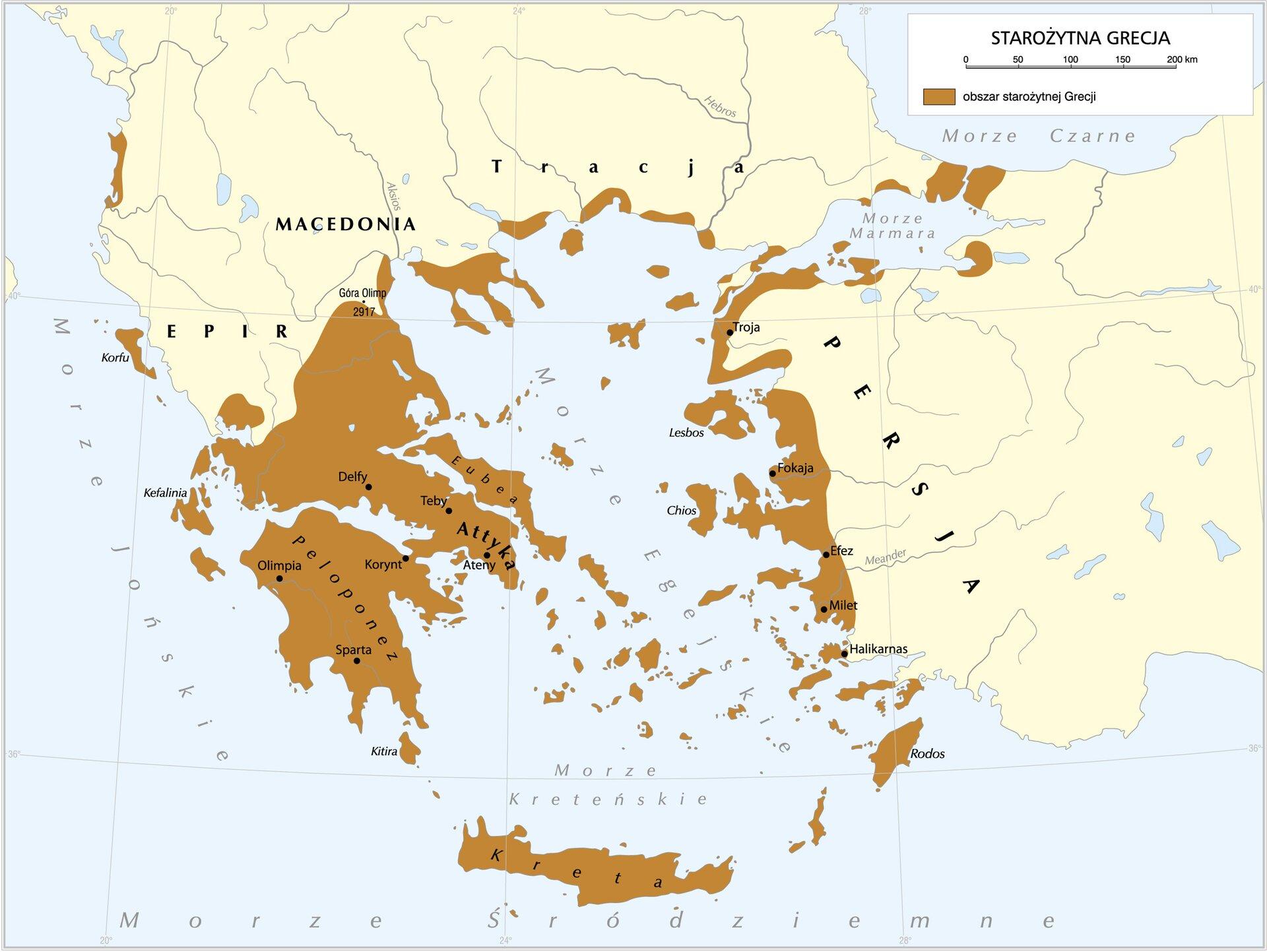 Grecja to kraj położony wpołudniowej części Półwyspu Bałkańskiego Grecja to kraj położony wpołudniowej części Półwyspu Bałkańskiego Źródło: Krystian Chariza izespół.