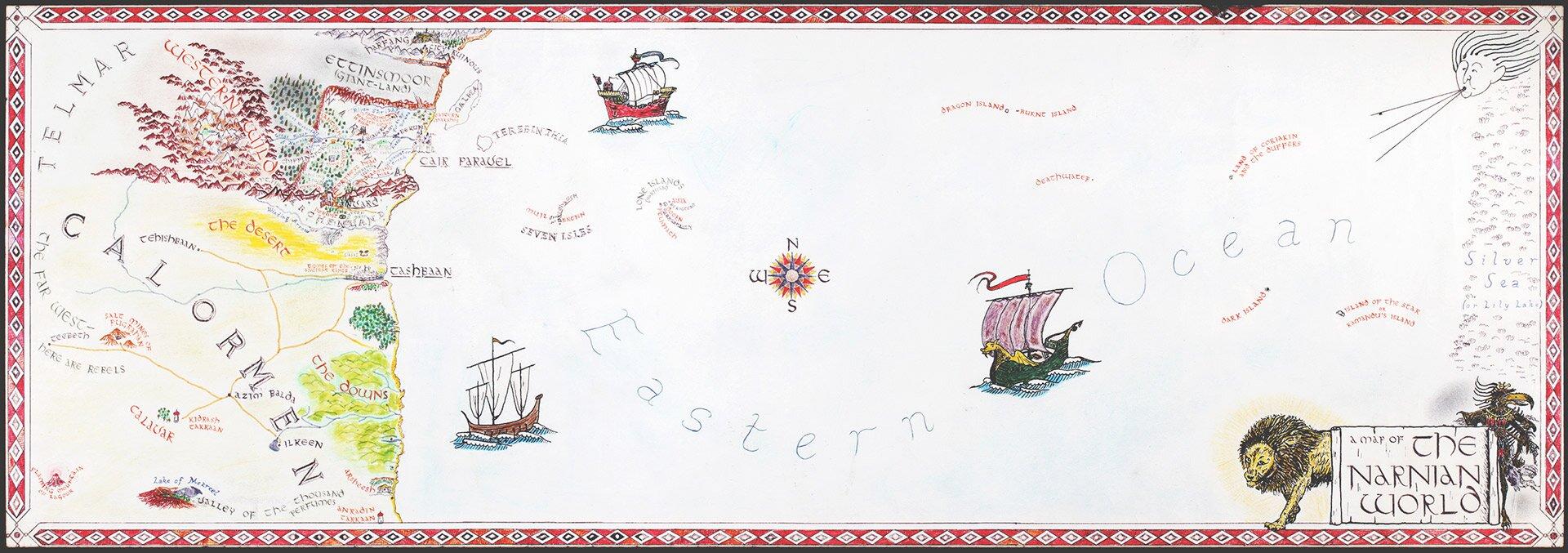 Mapa Narnii Mapa Narnii Źródło: David Bedell, licencja: CC BY-SA 3.0.