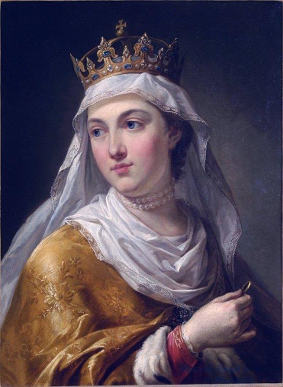portret przedstawia Jadwigę Andegaweńską