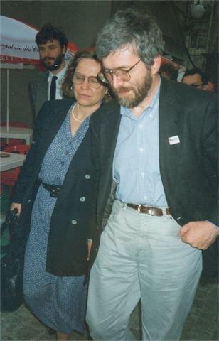 Stanisław Barańczak zżoną Anną Stanisław Barańczak zżoną Anną Źródło: Mariusz Kubik, 1995, licencja: CC BY-SA 2.5.