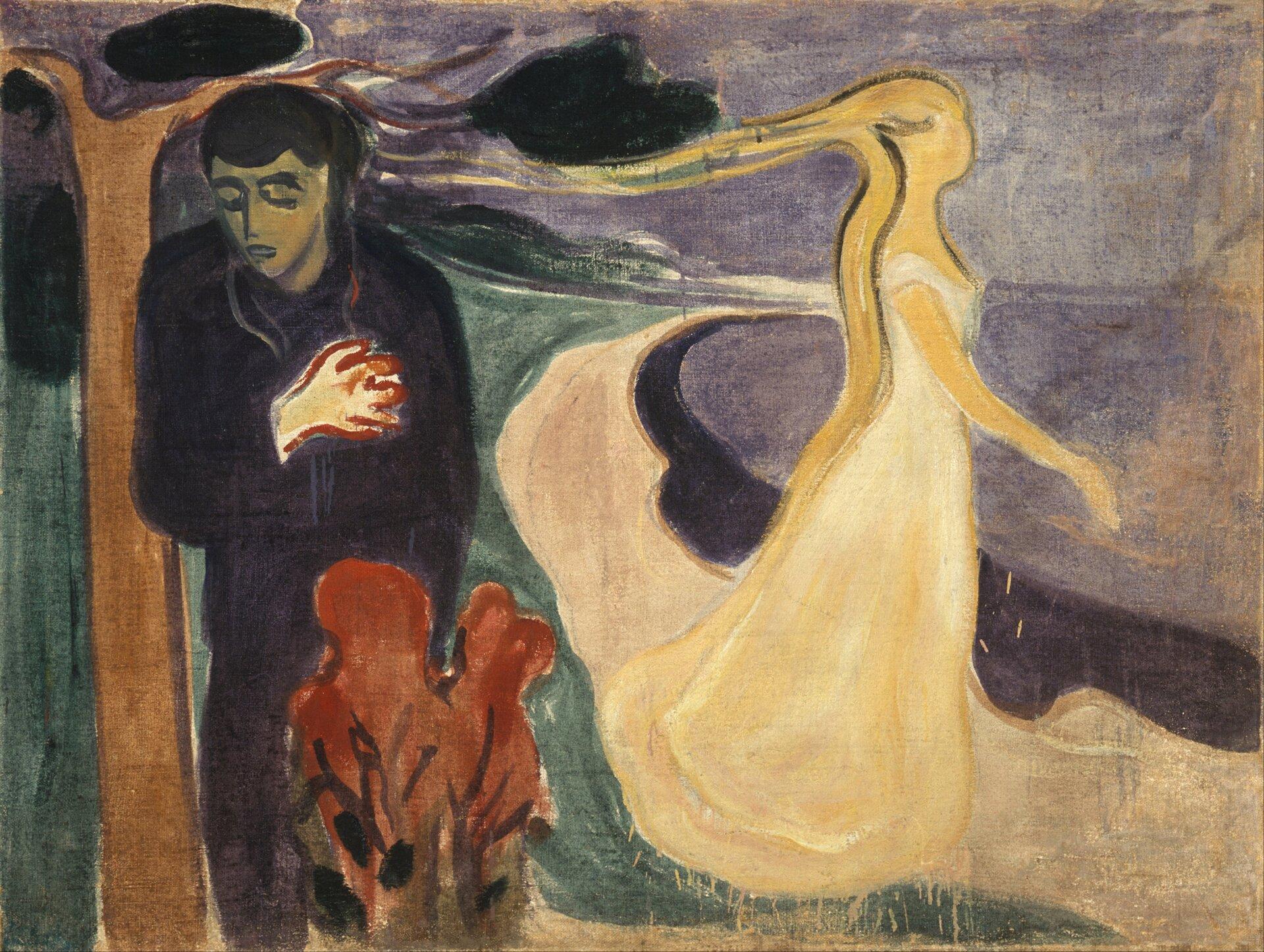 Rozłączenie Źródło: Edvard Munch, Rozłączenie, 1896, olej na płótnie, Muzeum Muncha wOslo, domena publiczna.