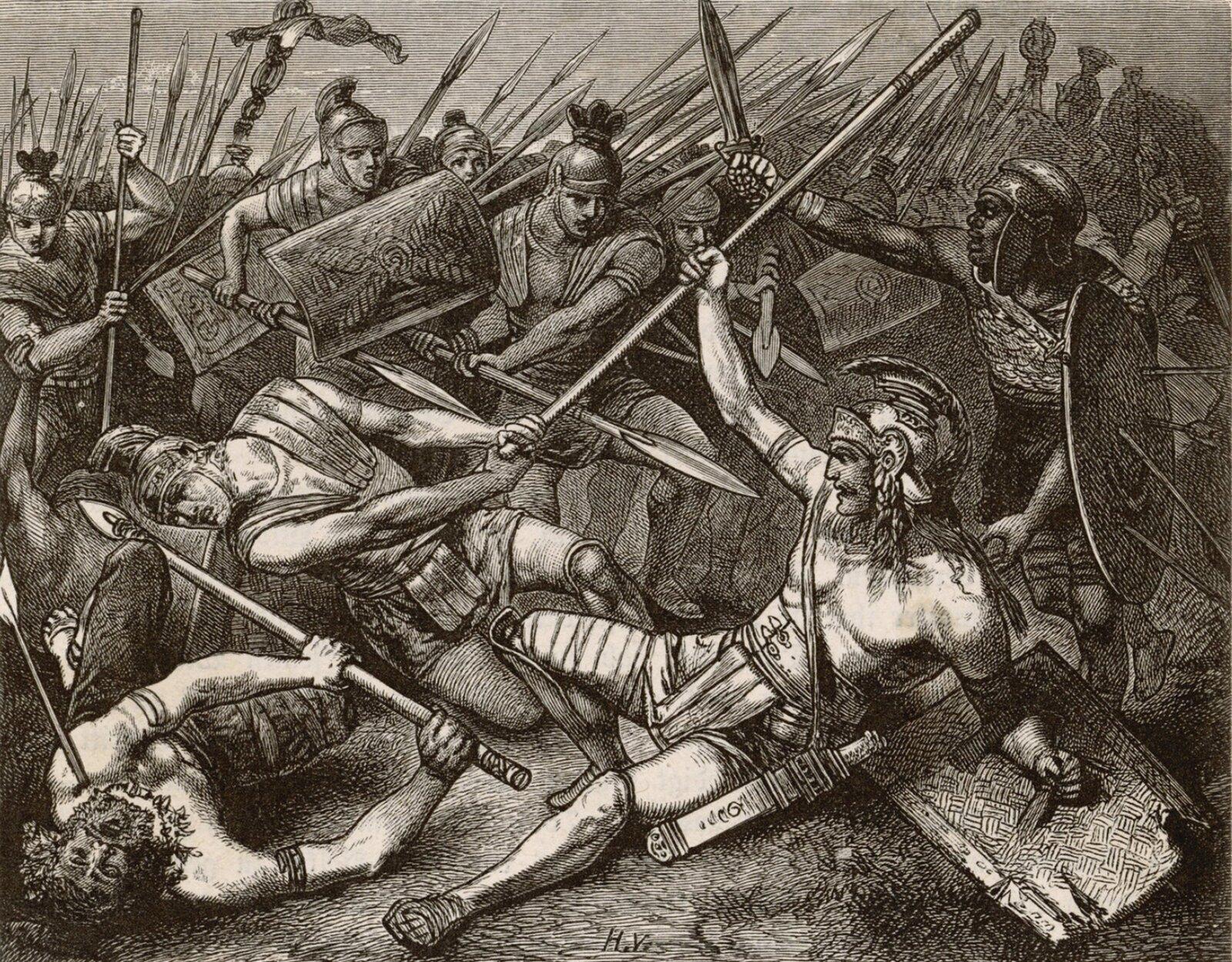 Śmierć Spartakusa Śmierć Spartakusa Źródło: Hermann Vogel, domena publiczna.