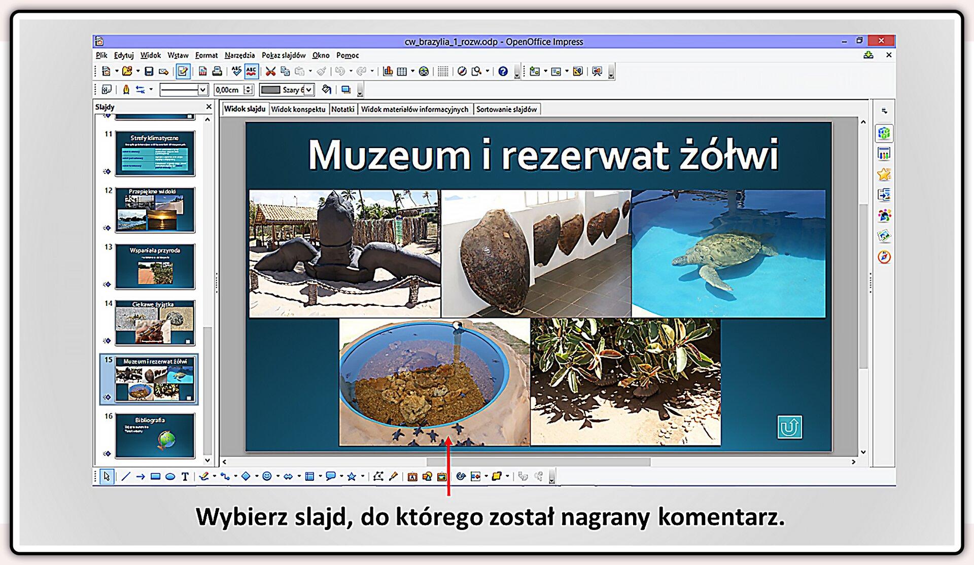 Slajd 3 galerii slajdów pokazu: Nagrywanie komentarza do prezentacji wprogramie LibreOffice Impress