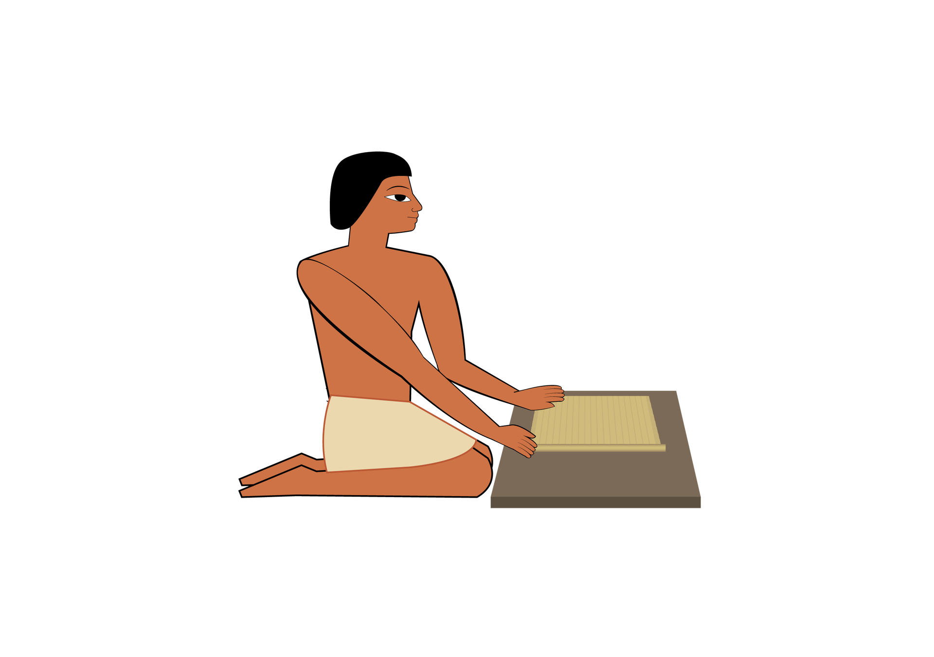 Gdy papirus był sklejony iwygładzony, rolowano go wzwój Gdy papirus był sklejony iwygładzony, rolowano go wzwój Źródło: Contentplus.pl sp. zo.o., licencja: CC BY 3.0.