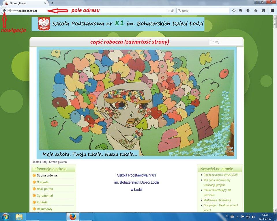 Zrzut okna przeglądarki Mozilla Firefox