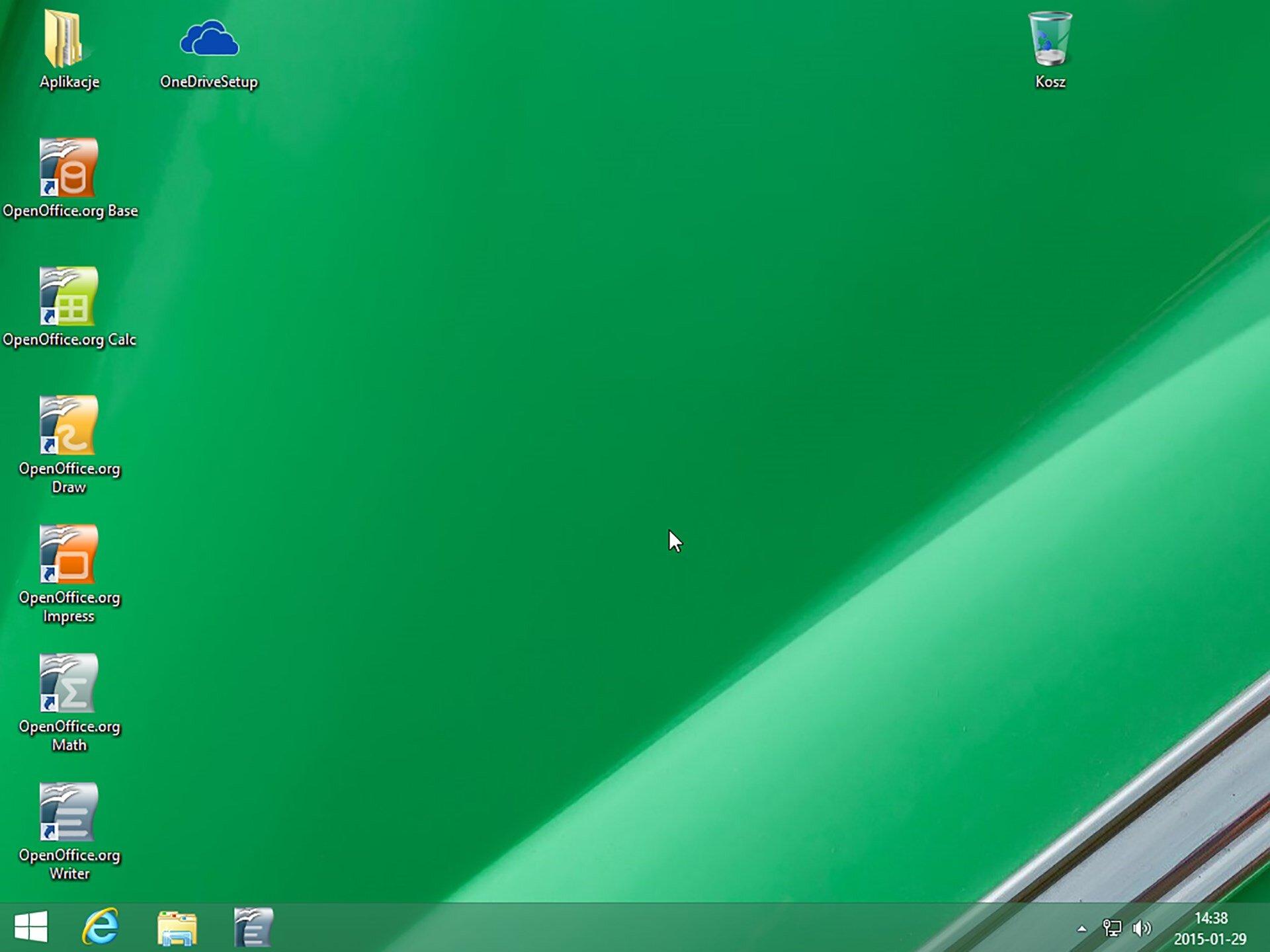 Zrzut pulpitu systemu Windows 8.1