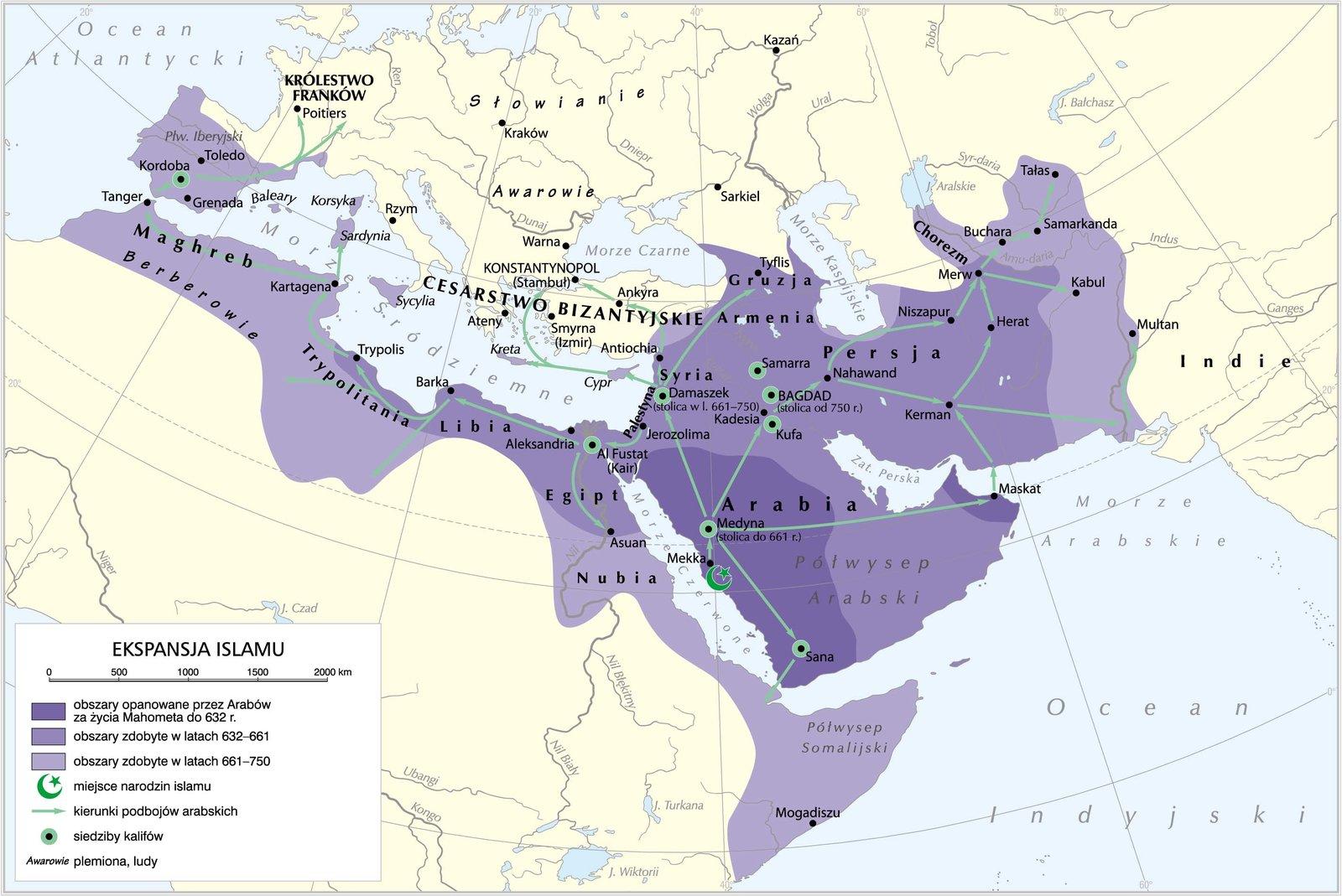 mapaEkspansja islamu