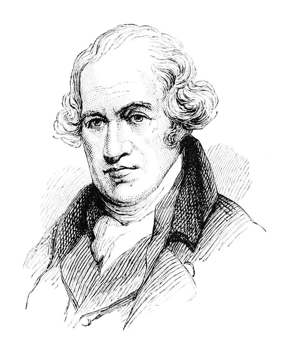 James Watt JamesWatt(1736–1819)–szkocki. konstruktor iwynalazca. W1769 rokuulepszył atmosferyczny silnik parowy, aw1782 rokuzbudował parowy silnik zrozprężaniem pary. Zkoleiw1784 roku–silnik zregulatorem prędkości obrotowej (regulatorem W.). Razem zMatthewBoultonem założył w1775 rokuwBirmingham pierwszą wświecie wytwórnię maszyn parowych (Soho Works).(Na podstawie:Nowa encyklopedia powszechna PWN, pod red. Dariusza Kalisiewicza, Warszawa 1995-1996). Źródło: James Watt, domena publiczna.