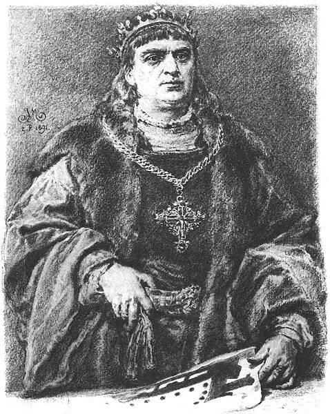 Zygmunt IStary (ur. 1467 – zm. 1548, panował 1506-1548) Źródło: Jan Matejko, Zygmunt IStary (ur. 1467 – zm. 1548, panował 1506-1548), rysunek, domena publiczna.