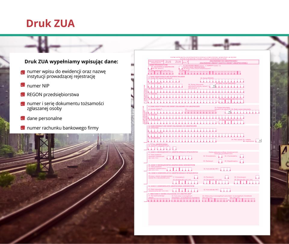 Ilustracja przedstawia druk ZUA.