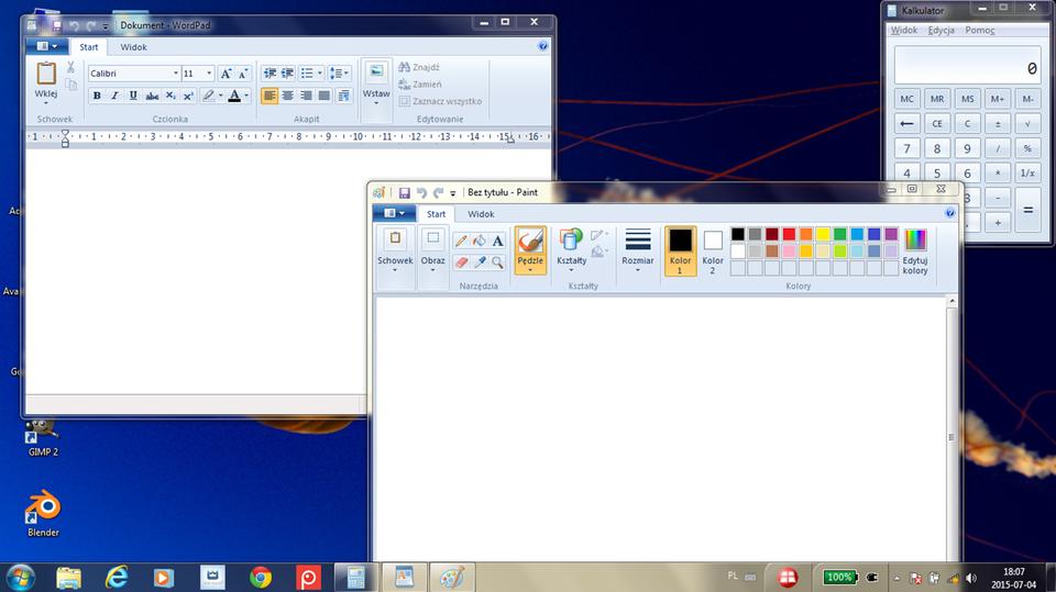 Animacja: Praca zwieloma oknami wsystemie Windows