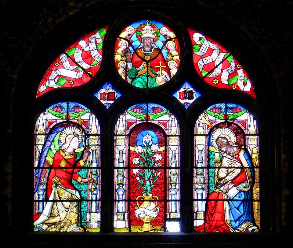 Okno iwitraż wkościele św. Eustachego wParyżu (wyb. 1532-1640) Okno iwitraż wkościele św. Eustachego wParyżu (wyb. 1532-1640) Źródło: Mbzt, 2011, Wikimedia Commons, licencja: CC BY-SA 3.0.