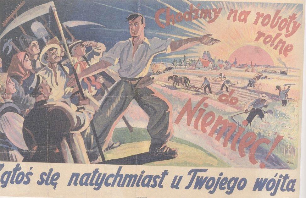Plakat propagandowy Źródło: Plakat propagandowy, 1940-1941, Narodowe Archiwum Cyfrowe, domena publiczna.