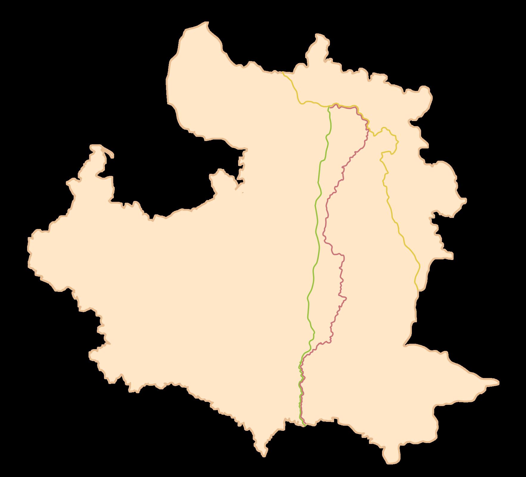 Mapa przedstawia granice Polski zRosją wdwóch wariantach: z1793 roku i1921. Widać wyraźnie powiększenie się obszaru terenów Polski na wschód, między innymi oczęść Wołynia iPolesia, zmiastem Pińskiem.