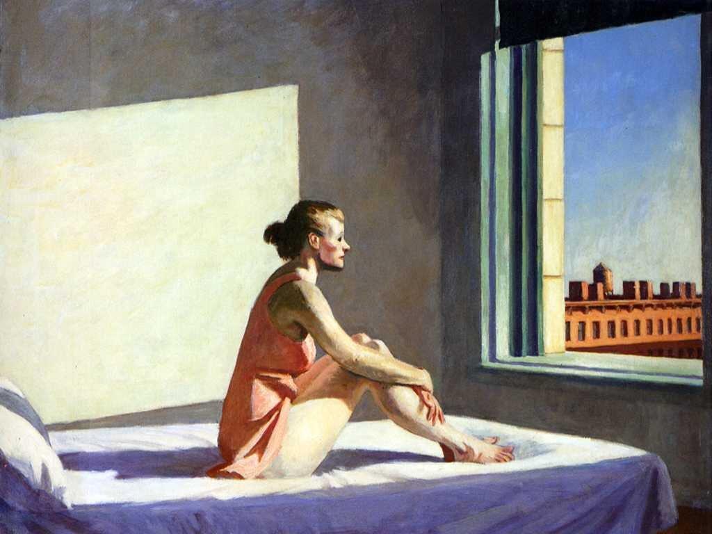 EdwardHopper,Morningsun [Poranne słońce], 1952 EdwardHopper,Morningsun [Poranne słońce], 1952 Źródło: freeparking :-|, licencja: CC BY 2.0.