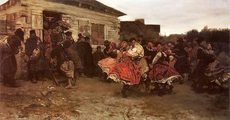 Oberek Źródło: Józef Chełmoński, Oberek, 1878, olej na płótnie, kolekcja prywatna.
