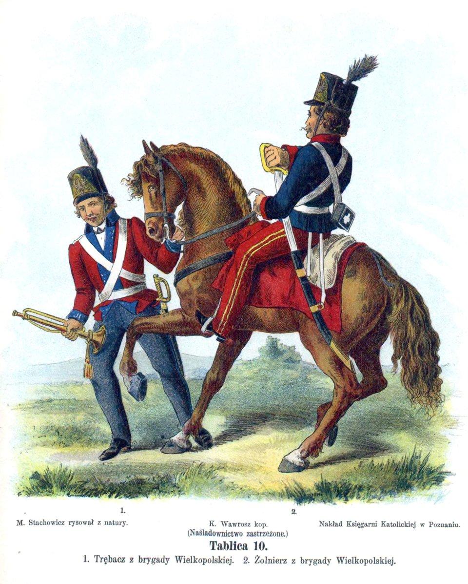 Wojsko Polskie Kościuszki wroku 1794 Źródło: Walery Eljasz Radzikowski, Wojsko Polskie Kościuszki wroku 1794, domena publiczna.