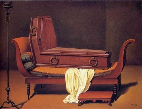 RenéMagritte, Perspektywa: Madame Récamier Davida, 1949, olej na płótnie, 60 x80 cm, kolekcja prywatna RenéMagritte, Perspektywa: Madame Récamier Davida, 1949, olej na płótnie, 60 x80 cm, kolekcja prywatna Źródło: René Magritte, domena publiczna, [online], dostępny winternecie: http://www.wikiart.org/en/rene-magritte/perspective-madame-recamier-by-david-1949 [dostęp 25.10.2015 r.].