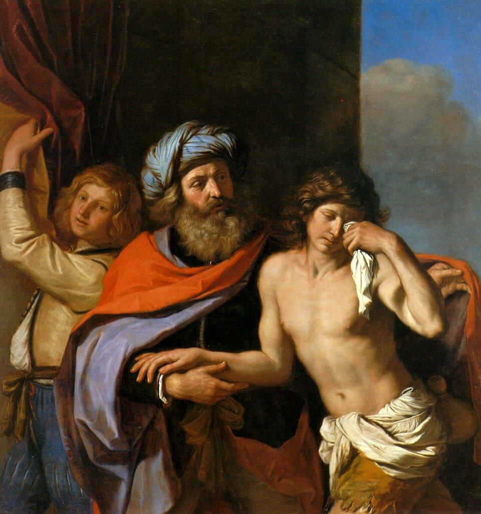 Powrót syna marnotrawnego Źródło: Guercino (Giovanni Francesco Barbieri), Powrót syna marnotrawnego, 1654–1655, olej na płótnie, Timken Museum of Art, San Diego, domena publiczna.