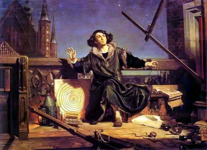 Obraz Mikołaja Kopernika namalowany przez Jana Matejkę w1872 r. Źródło: Jan Matejko, Obraz Mikołaja Kopernika namalowany przez Jana Matejkę w1872 r., 1872, olej na płótnie, Jagiellonian University Museum, domena publiczna.
