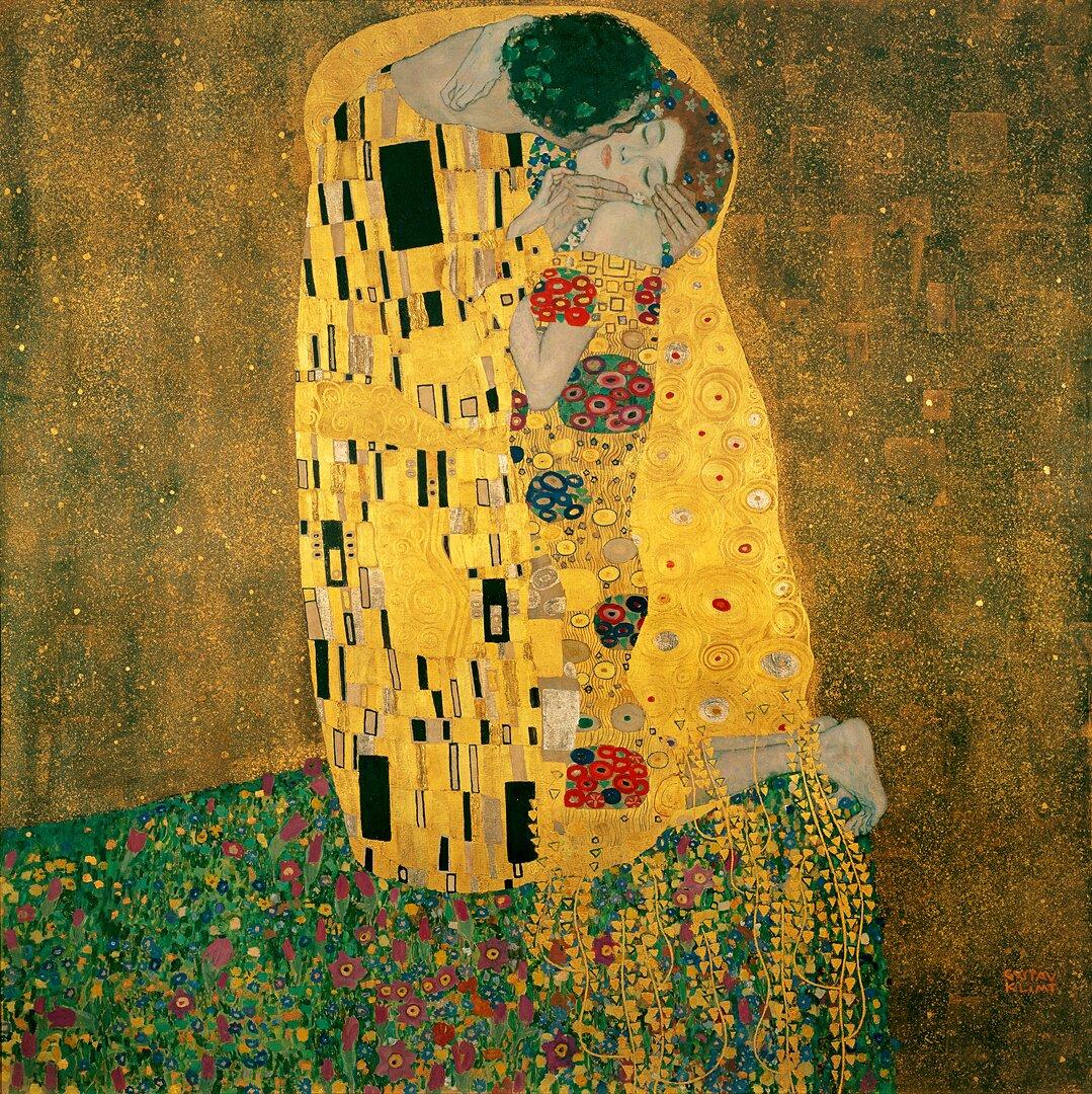 Gustav Klimt, Pocałunek Źródło: Aavindraa, Gustav Klimt, Pocałunek, licencja: CC 0.