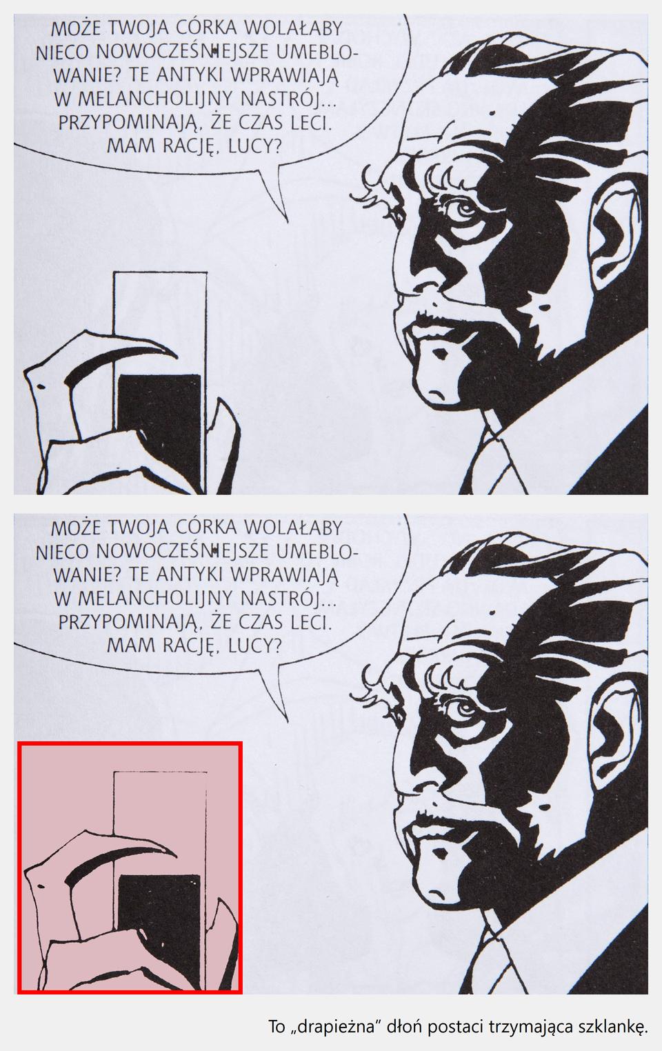 """Ilustracja interaktywna - po kliknięciu kursorem myszy na grafikę przedstawiającą Nicola Mari (rys.), Michele Medda (scen.), """"Nathan Never"""". Vampyrus"""", zostanie wyświetlona informacja dodatkowa."""