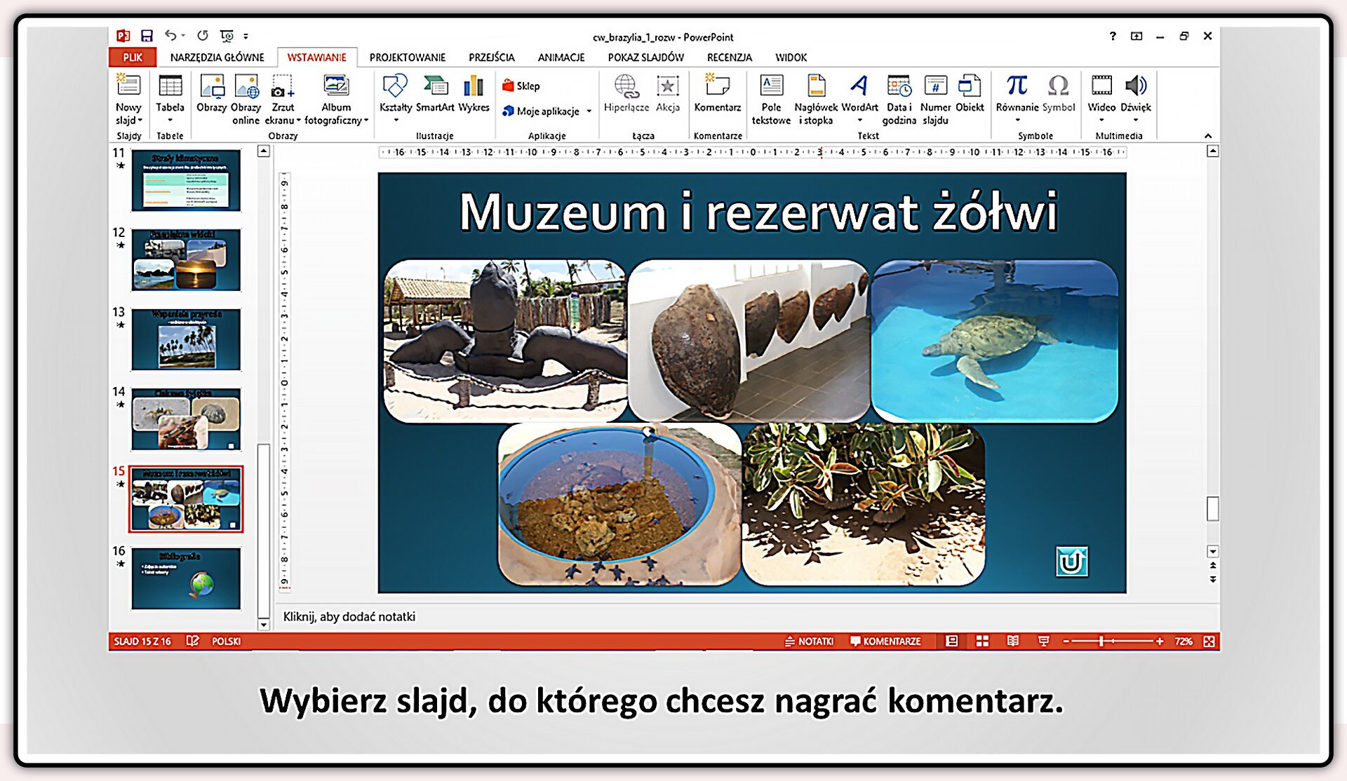 Slajd 1 galerii slajdów pokazu: Nagrywanie komentarza do prezentacji wprogramie MS PowerPoint
